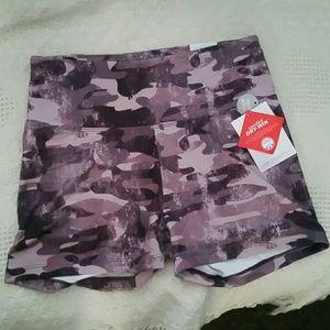 Marika plum Camo shorts